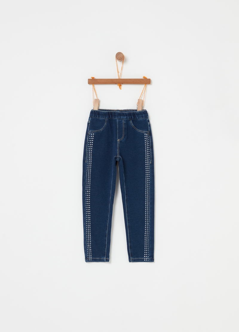 Pantaloni French Terry effetto denim image number null