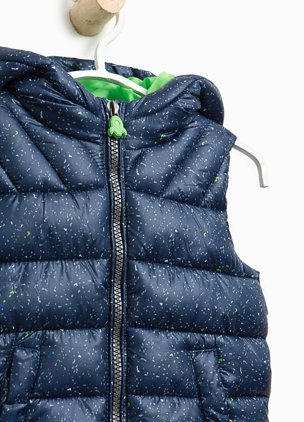 Padded gilet with splashes of colour | OVS