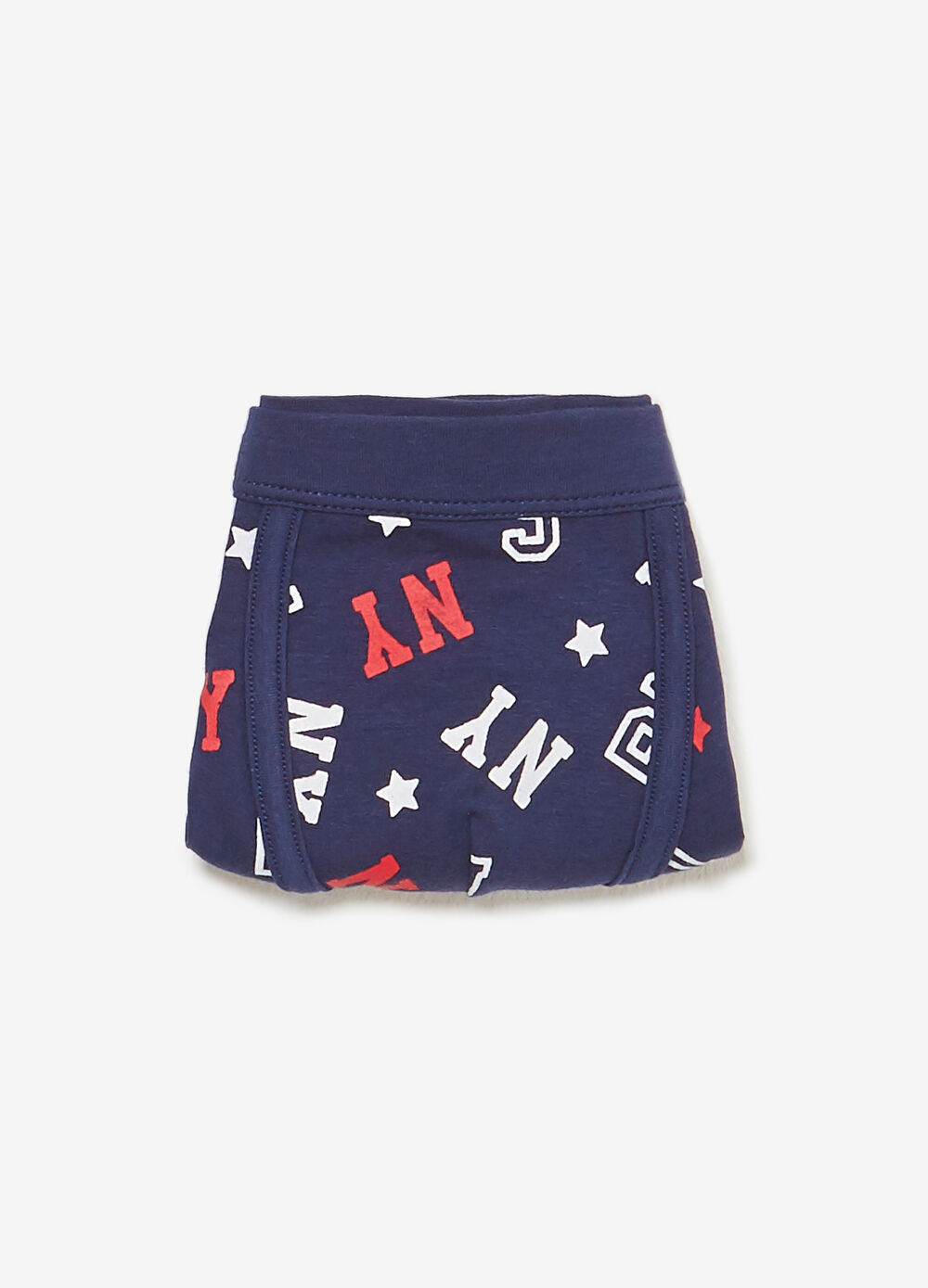 Boxer shorts in stretch cotton with letter pattern