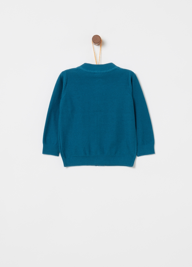 Knitted pullover in 100% cotton with zip image number null