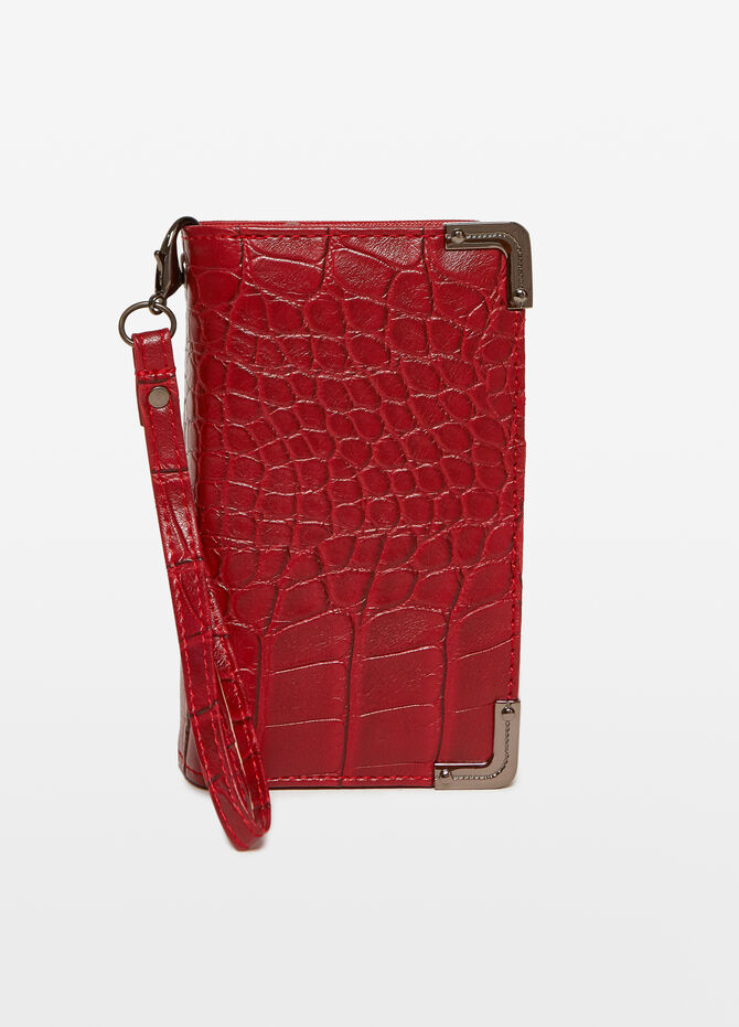 Crocodile-effect purse