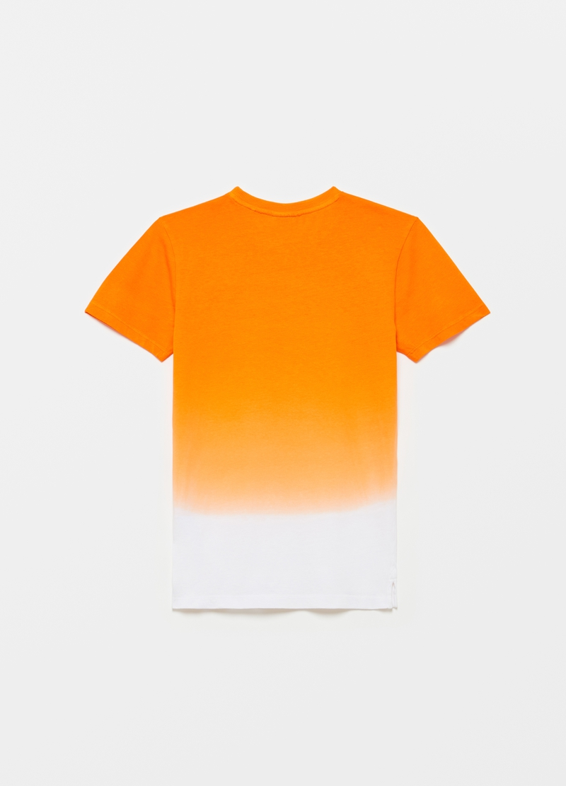 T-shirt with degradé-effect print image number null