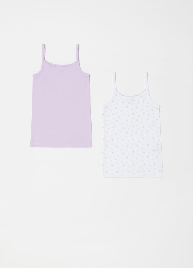 Two-pack vests with spaghetti straps