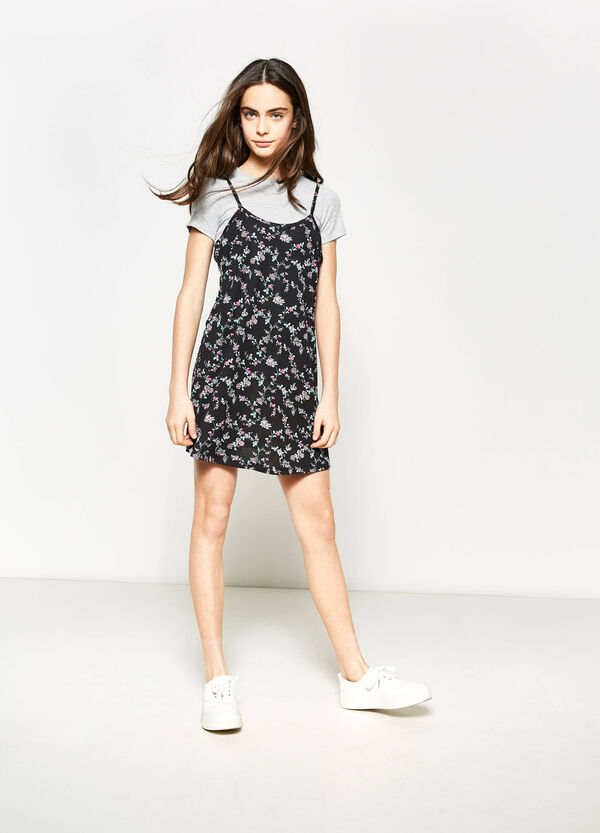 Teen sleeveless floral dress | OVS