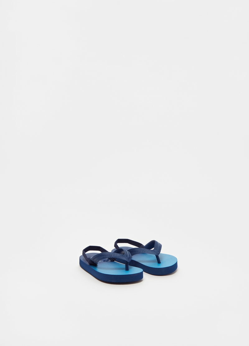 Degradé thong slippers with elasticated band image number null