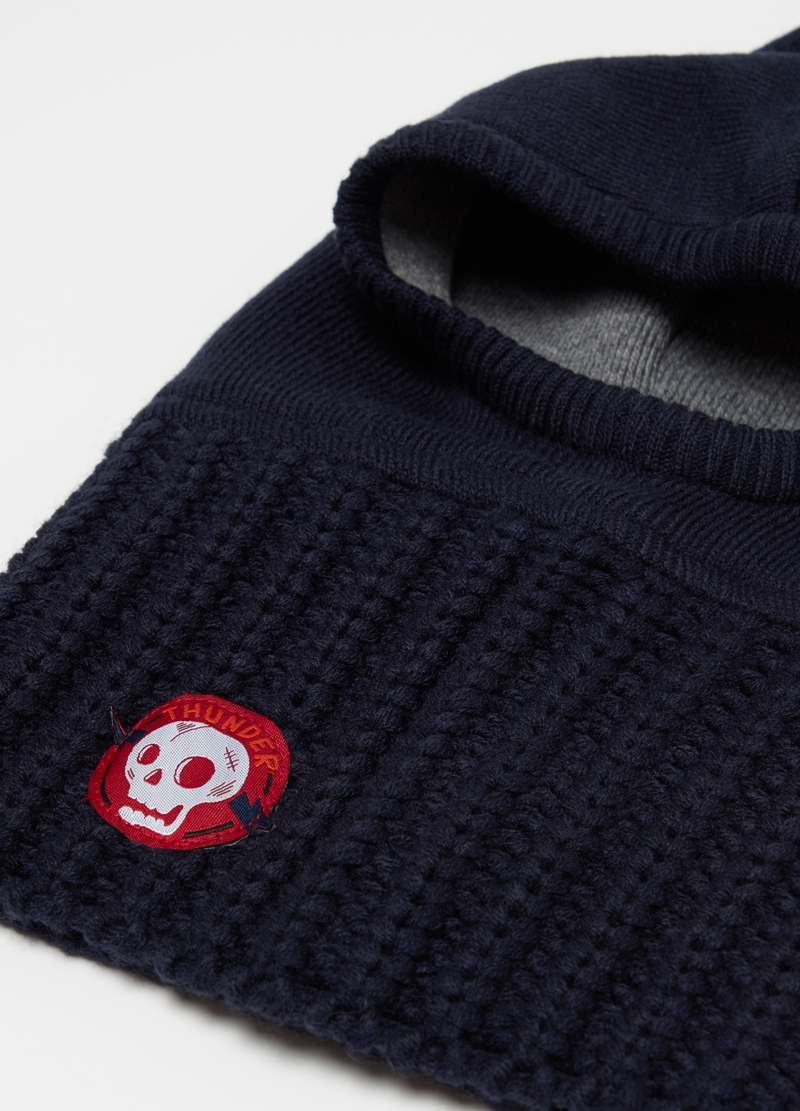 Hat with neck cover and patch image number null