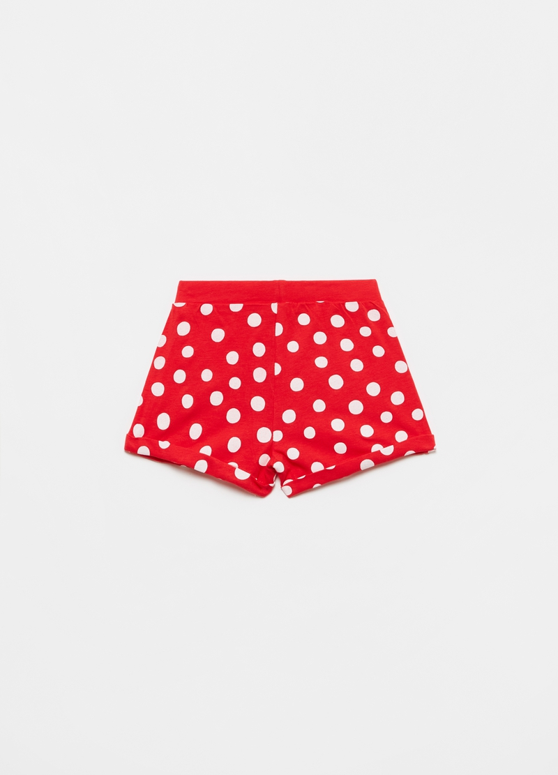 Jersey shorts with polka dot pattern. image number null