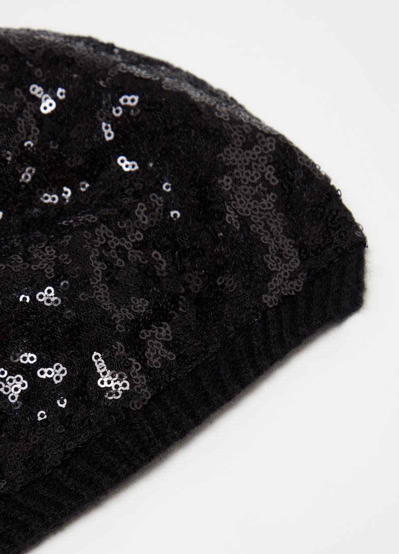 Berretto tricot con paillettes image number null