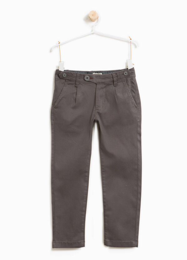 Stretch cotton chinos