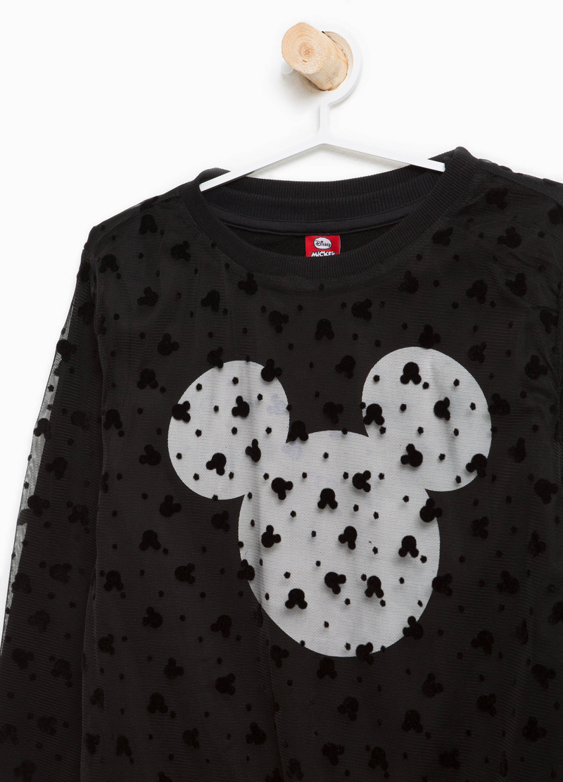 Stretch cotton sweatshirt with Minnie Mouse print image number null