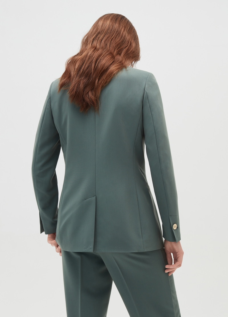 Stretch single-breasted blazer image number null