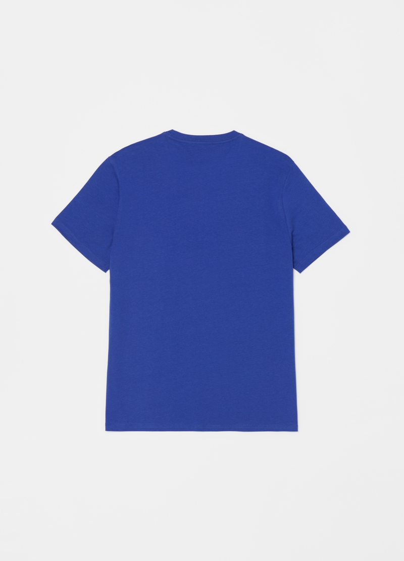Solid colour T-shirt in organic cotton with round neck image number null
