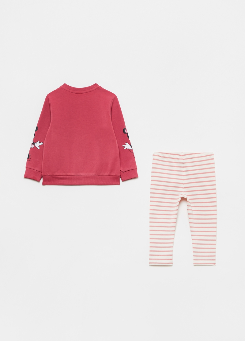 Jogging set with glitter Minnie Mouse print image number null