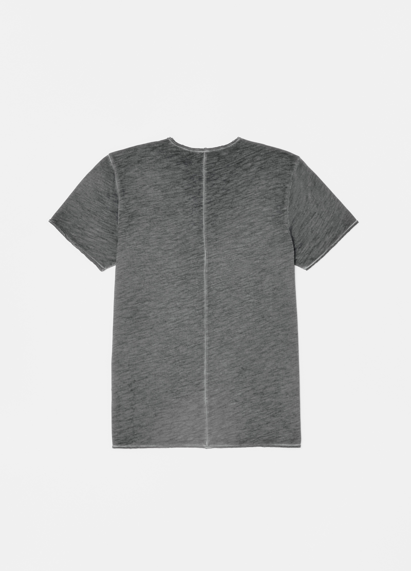 Slub cotton T-shirt with pocket image number null