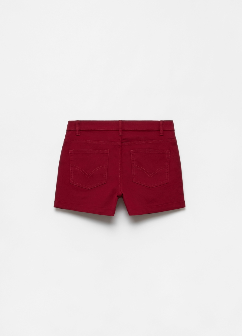 Five-pocket stretch cotton shorts image number null