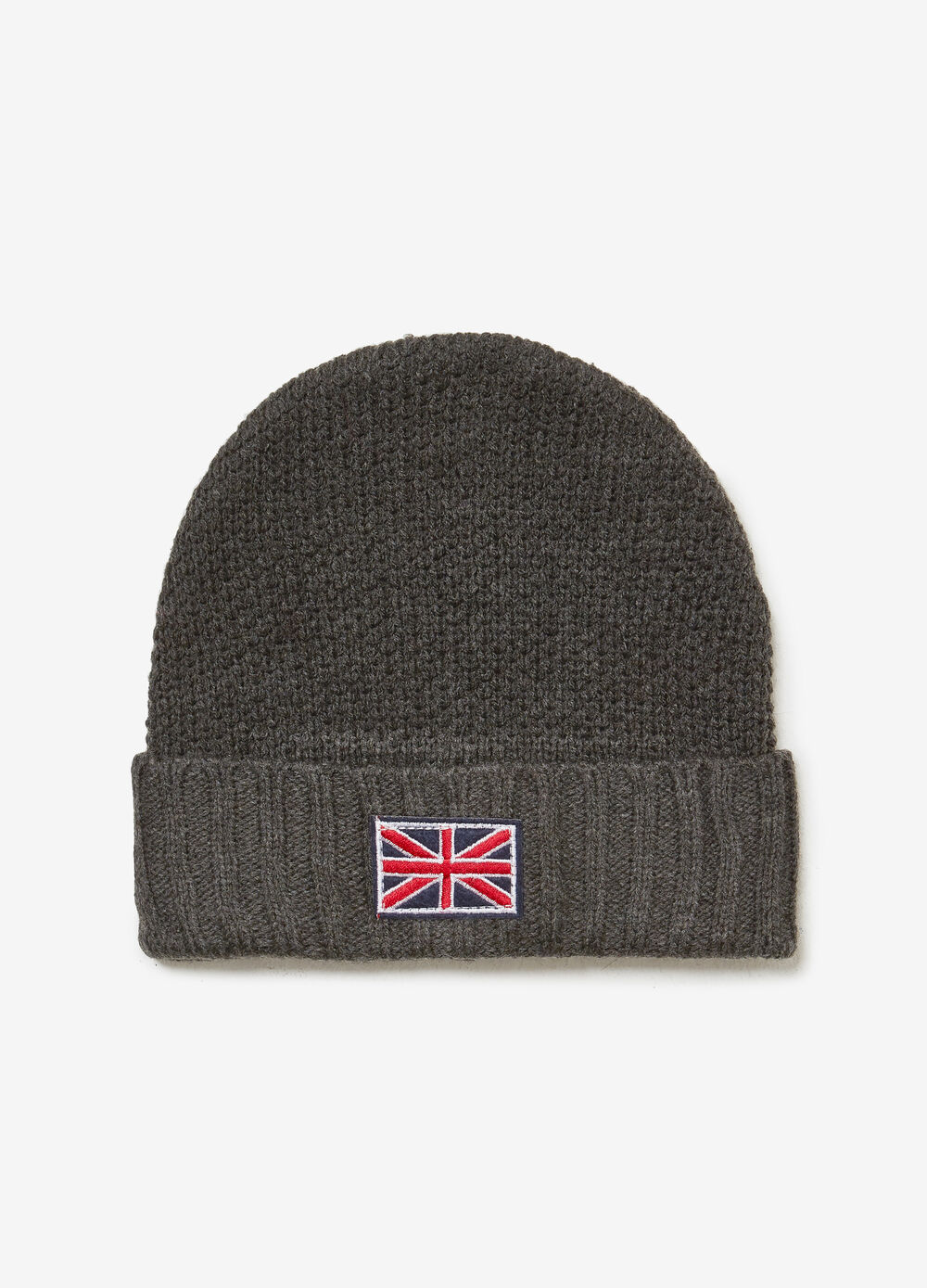 Beanie cap with English flag patch