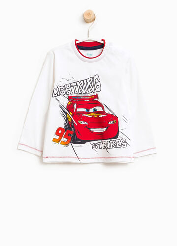 T-shirt in puro cotone con stampa Cars