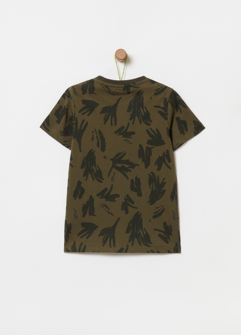 100% organic cotton T-shirt with pattern image number null