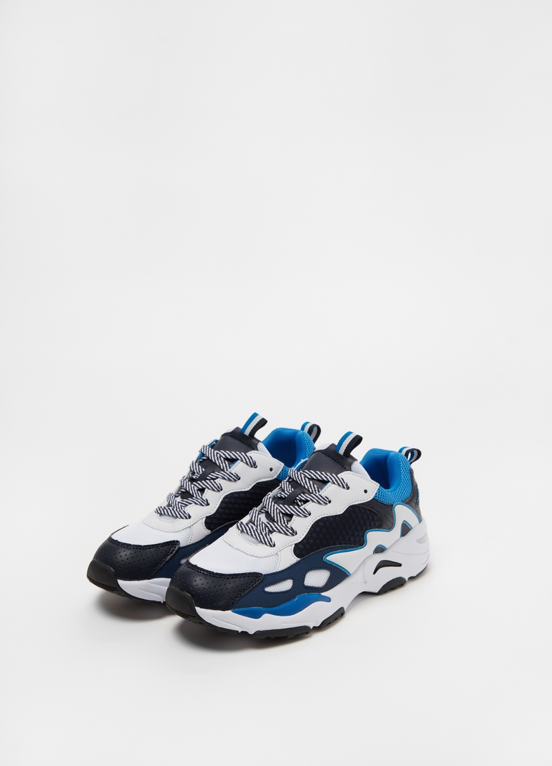 Sneakers colorblock suola alta image number null