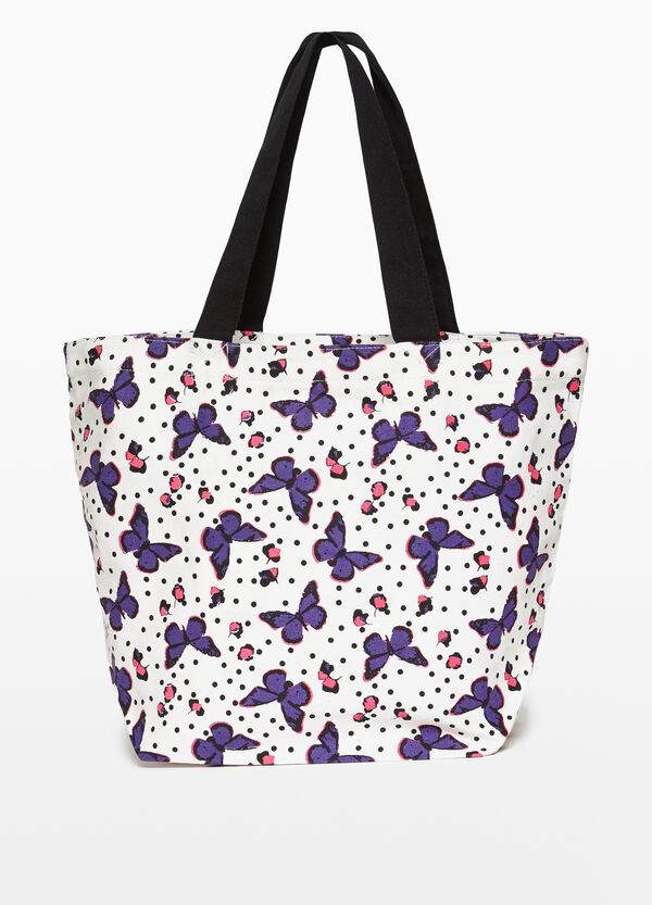 Shopping bag cotone fantasia floreale