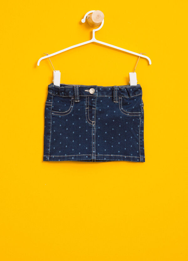 Gonna di jeans fantasia a pois | OVS