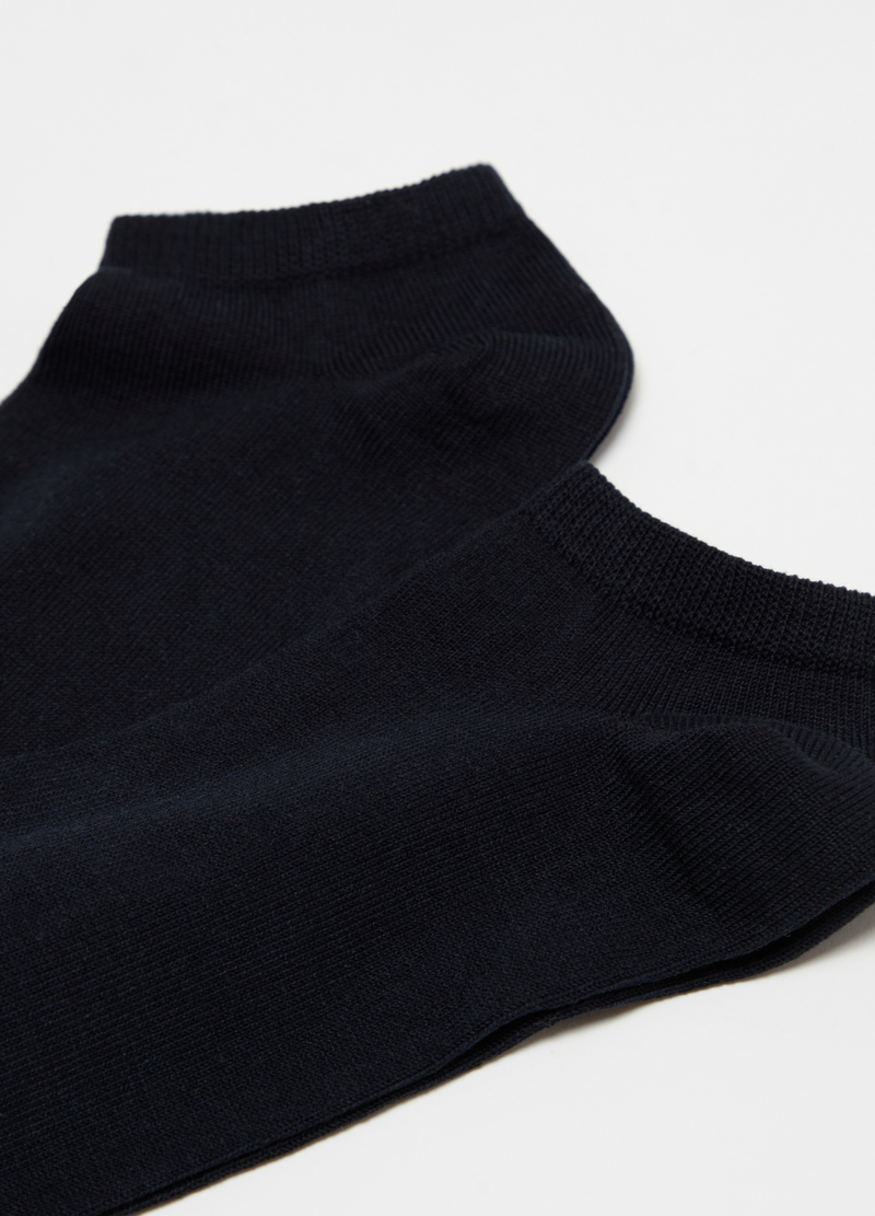 Two-pair pack short stretch cotton socks image number null