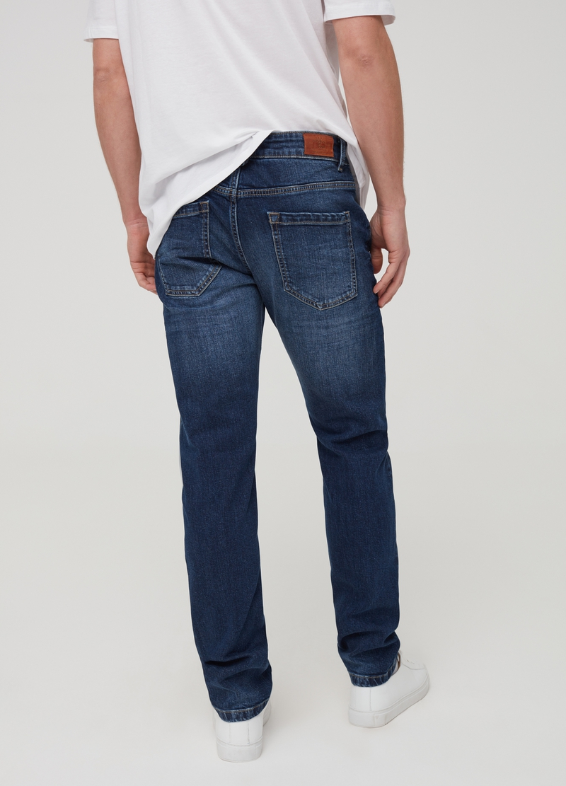 Jeans slim fit effetto used image number null