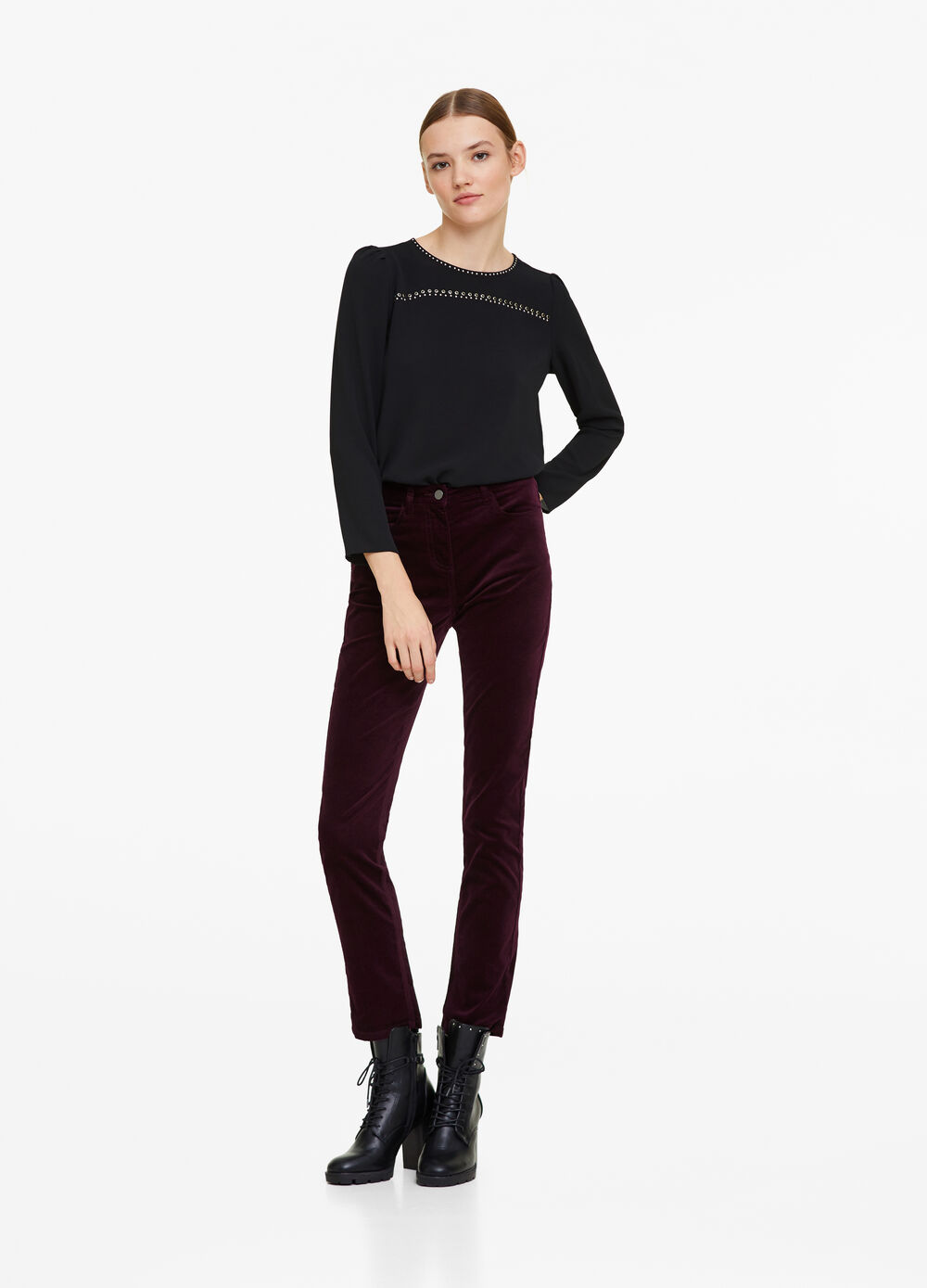 5-pocket velvet trousers
