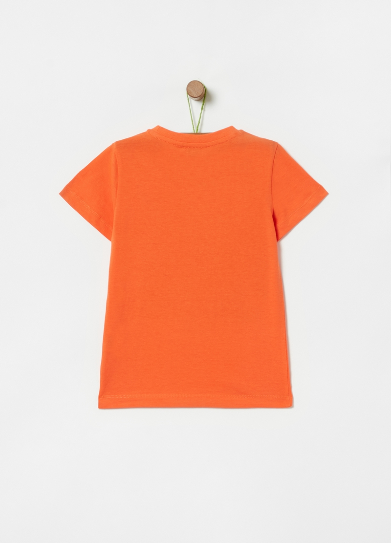 100% cotton T-shirt with tiger print image number null