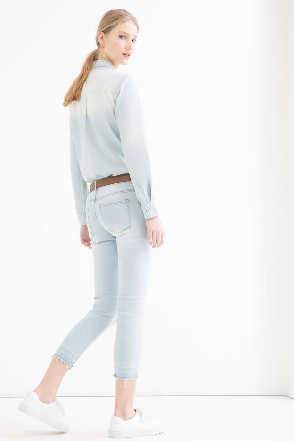 Denim shirt with faded effect | OVS