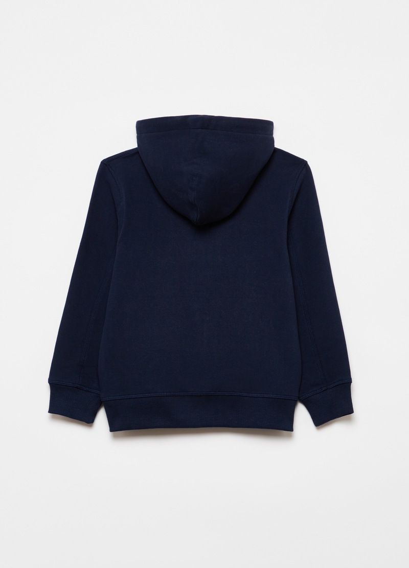 100% cotton full-zip sweatshirt with print image number null