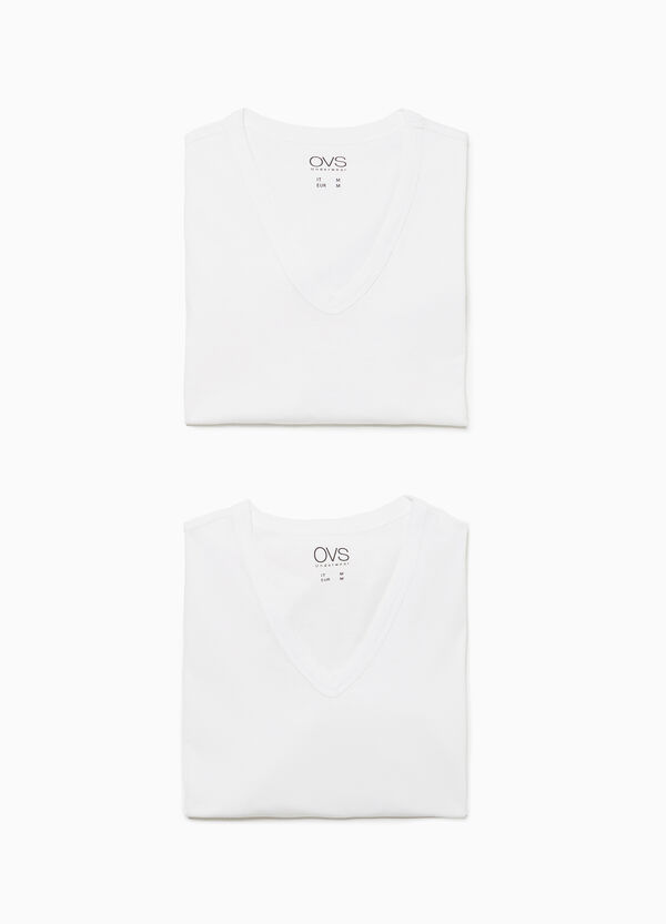 Set due t-shirt intime jersey scollo a V