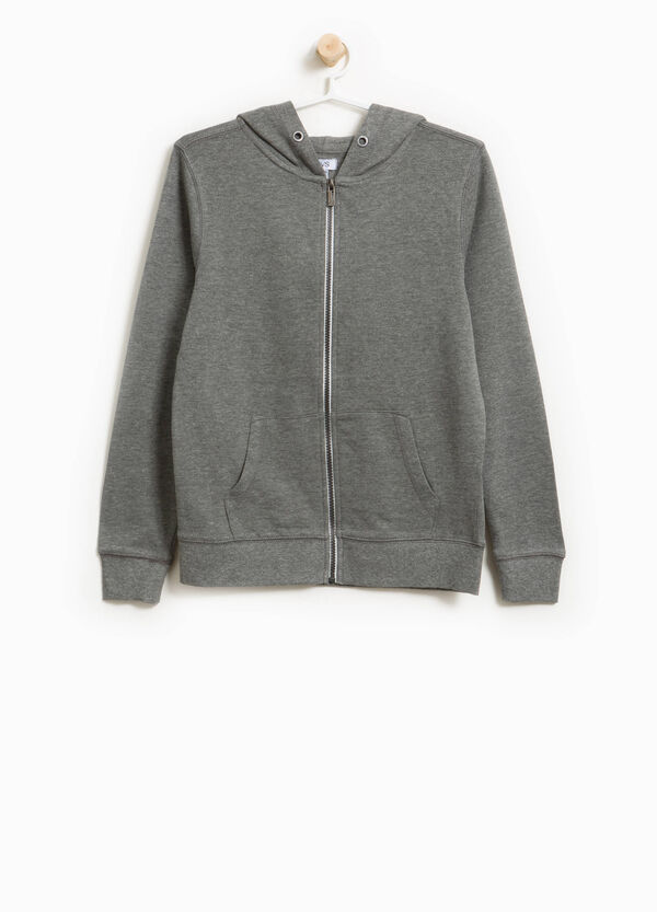 Cotton and viscose hoodie | OVS