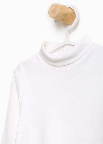 100% cotton turtleneck jumper with high neck
