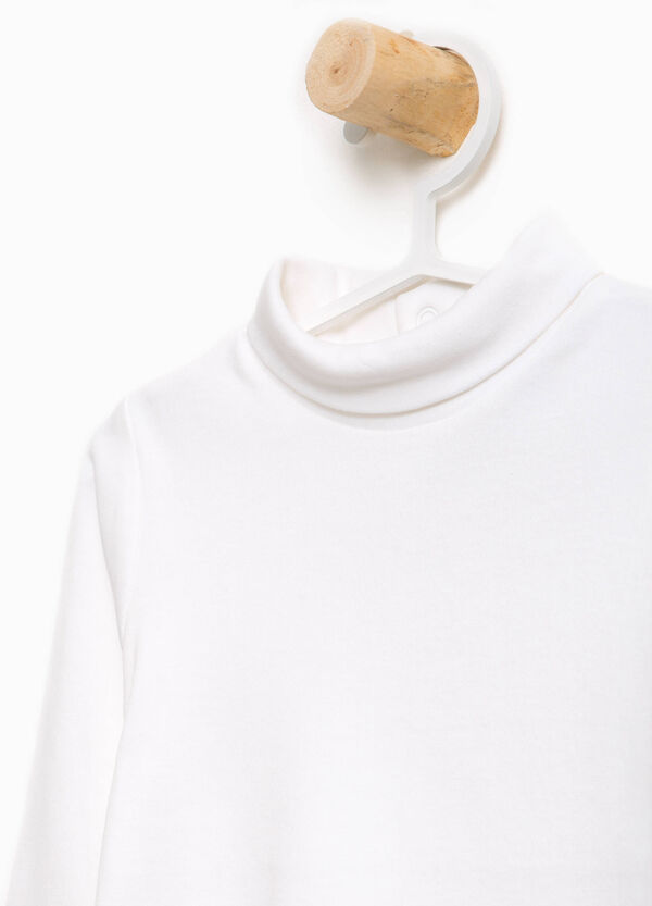 100% cotton turtleneck jumper with high neck | OVS