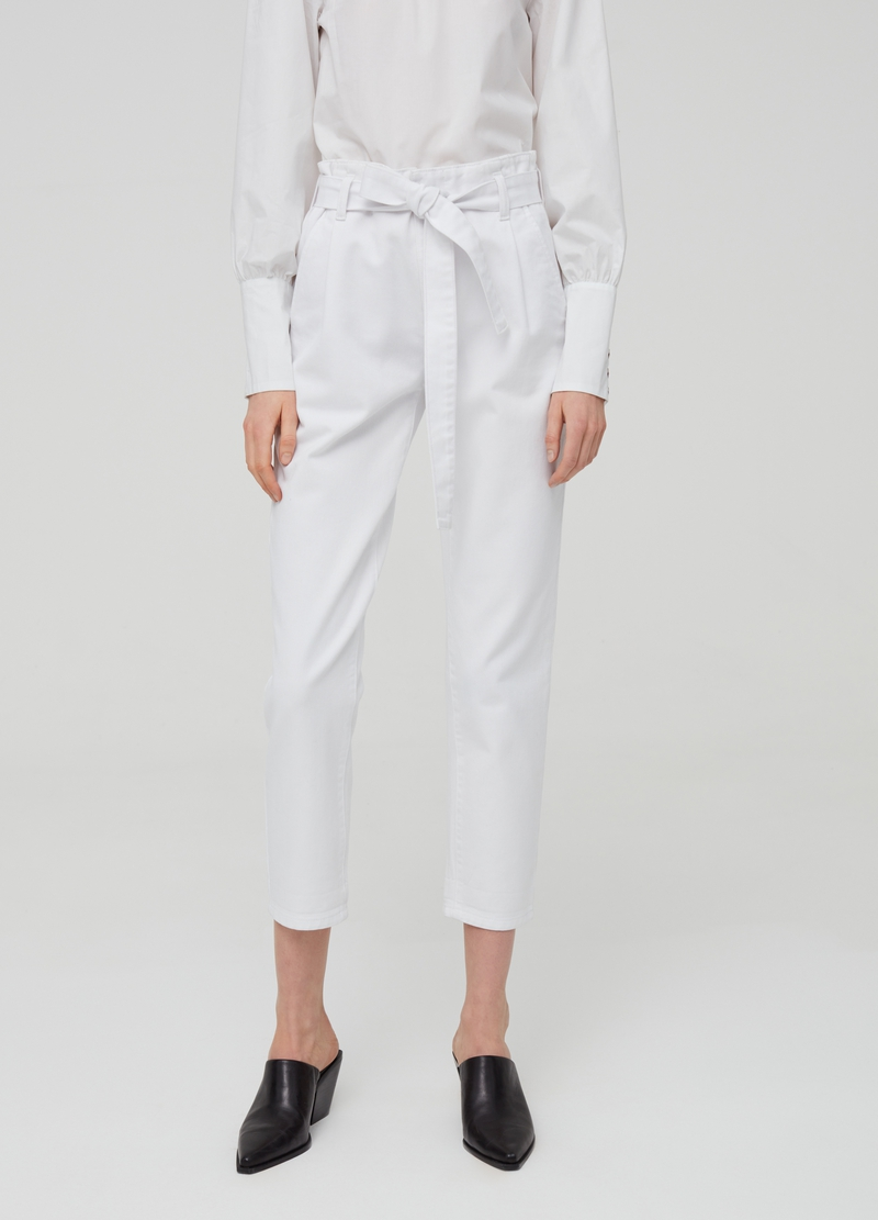 Mum-fit jeans with belt image number null