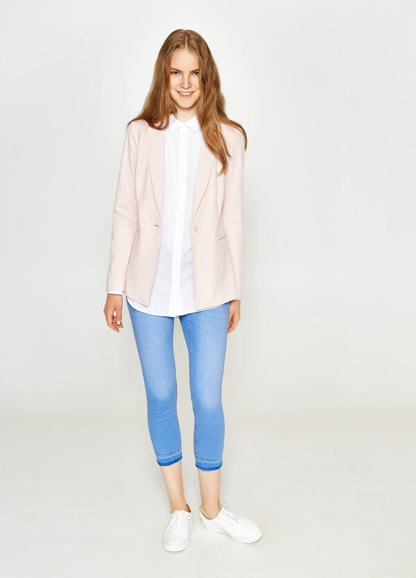 Blazer in viscosa stretch con revers