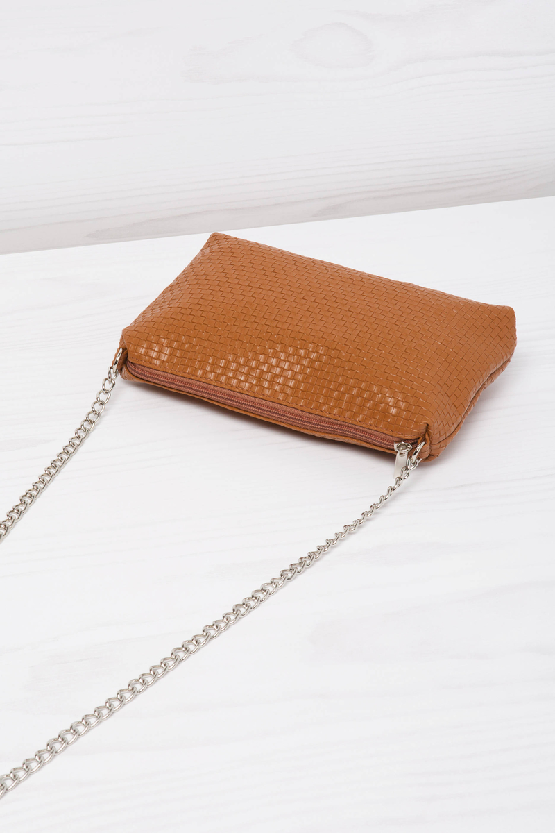 Solid colour mini bag with shoulder strap image number null