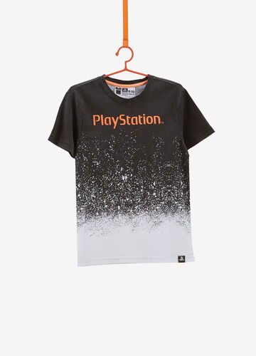 T-shirt cotone stampa degradé Playstation