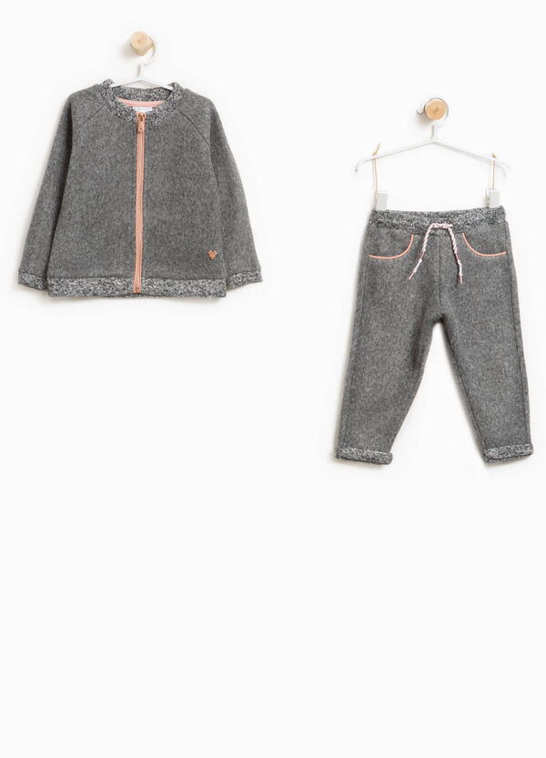 Cotton tracksuit with glitter trim | OVS