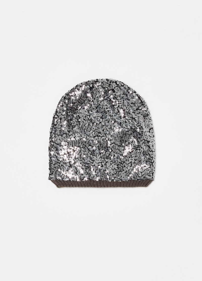 Beret with all-over sequins image number null