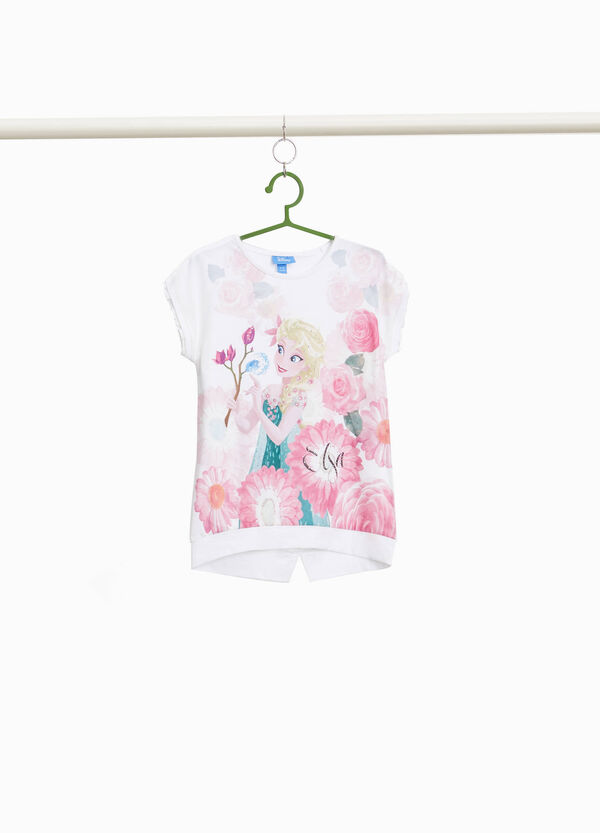 T-shirt con maxi stampa Frozen