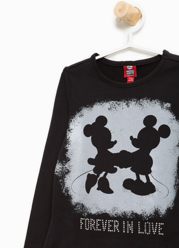 T-shirt in cotone Minnie e Mickey Mouse