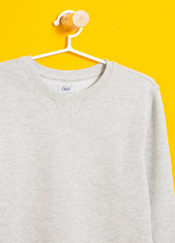 Sweatshirt in cotton and viscose with printed lettering