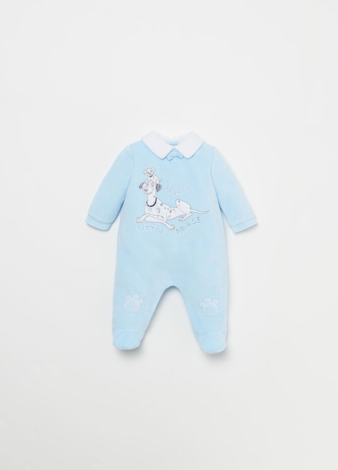 Tutina in velour patch Disney Baby