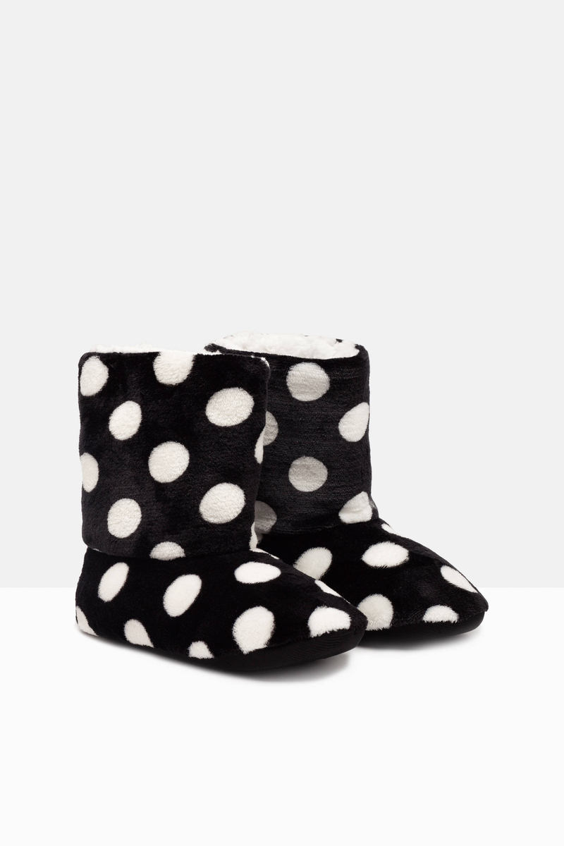 Pantofole stivaletto a pois image number null