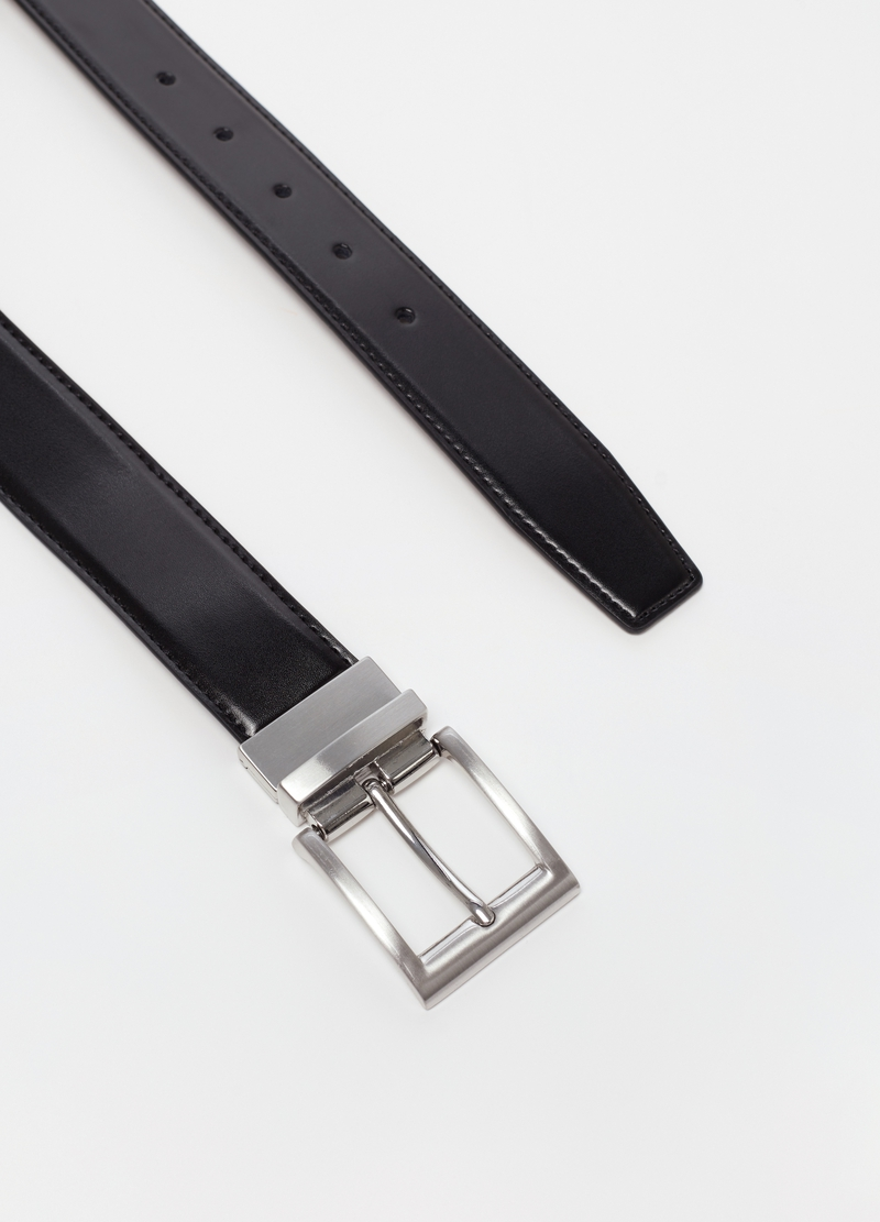 Real leather belt with buckle image number null
