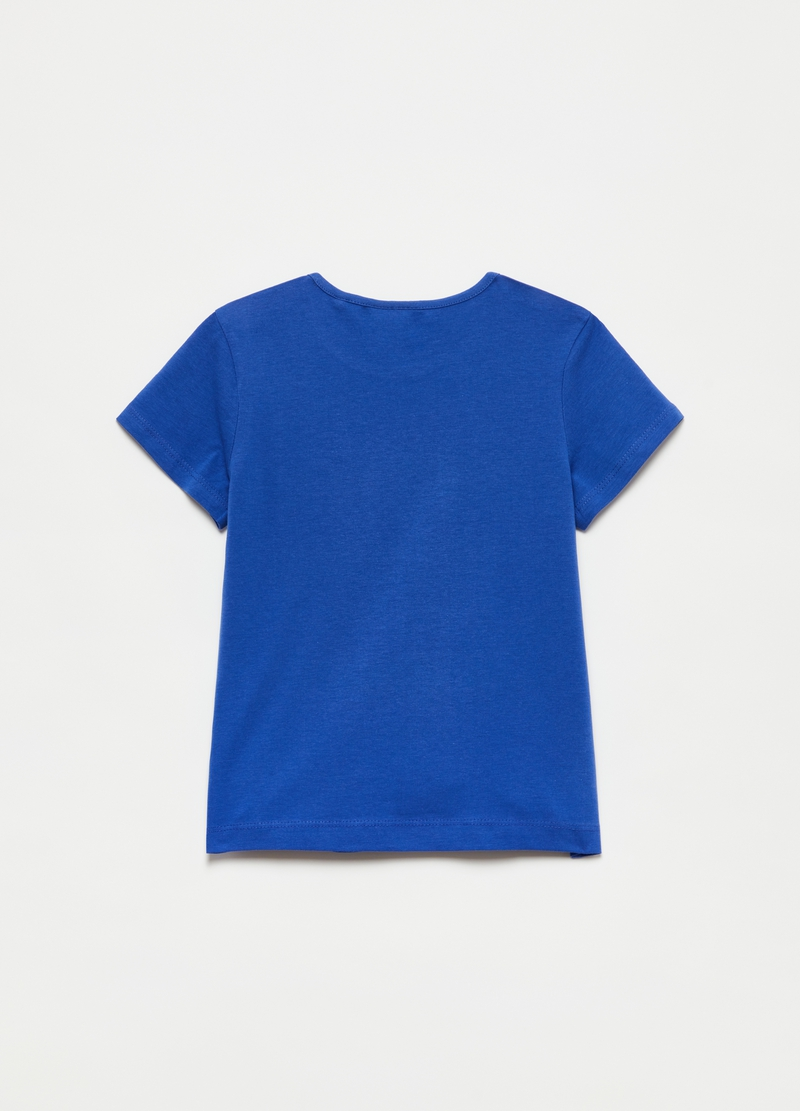 T-shirt in cotone con stampa limoni e fragole image number null