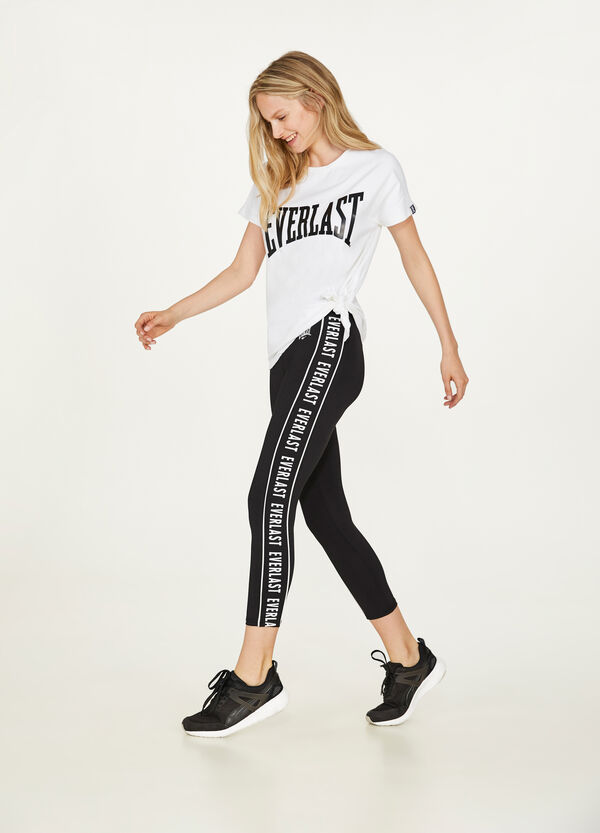 Everlast stretch leggings with bands and print