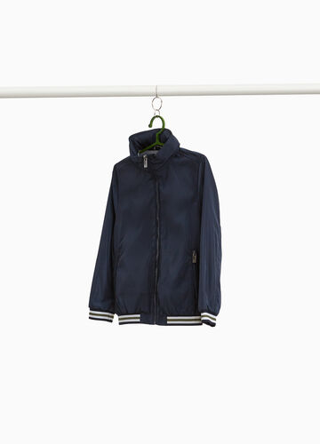 Jacket with high neck